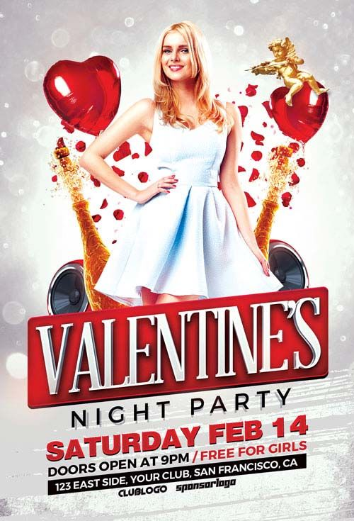 ValentineS Day Party Psd Flyer Template  HttpFfflyerCom