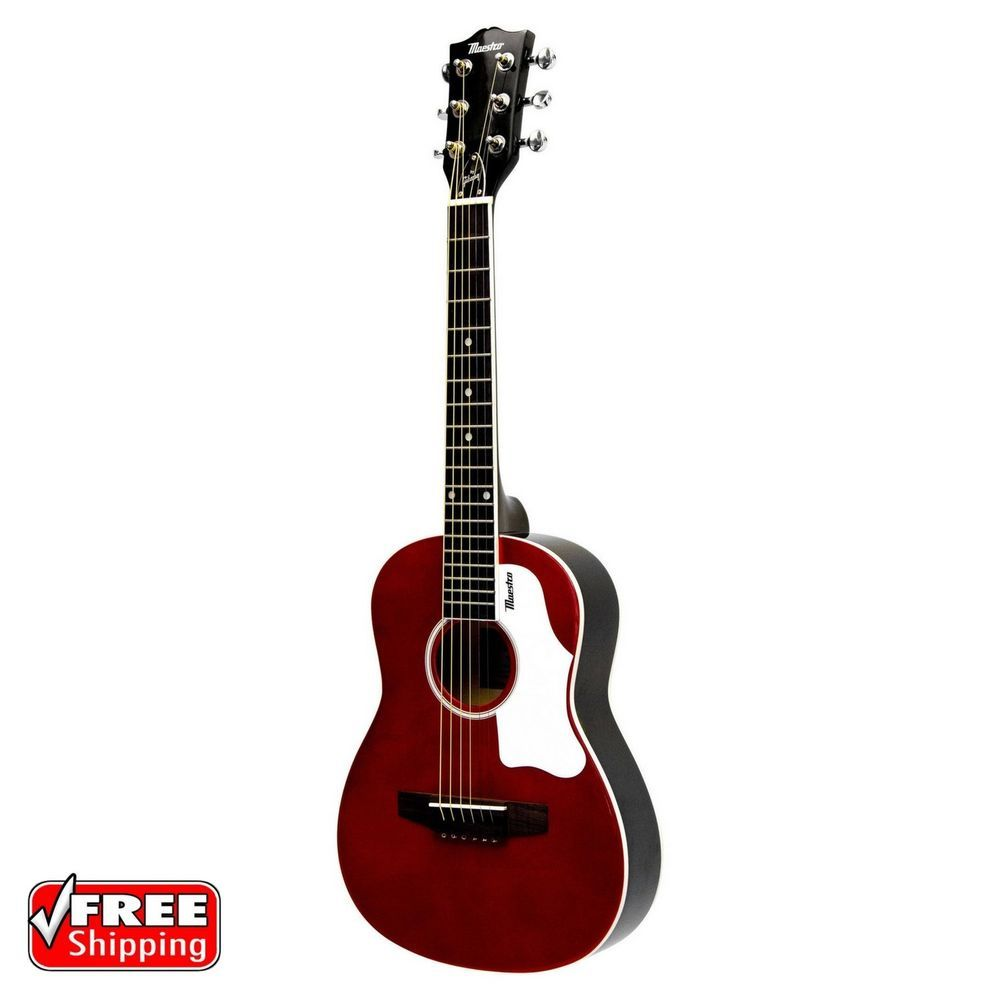 Mini Acoustic Guitar 30 Small Travel Kids Junior Children Beginners Youth Red Musical Instruments Acoustic Guitar Case Acoustic Guitar Acoustic Guitar Kits