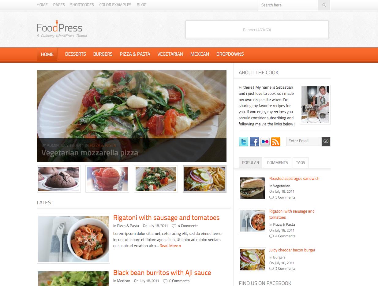 Nice Food Blog Template Food Food Recipes Recipe Sites