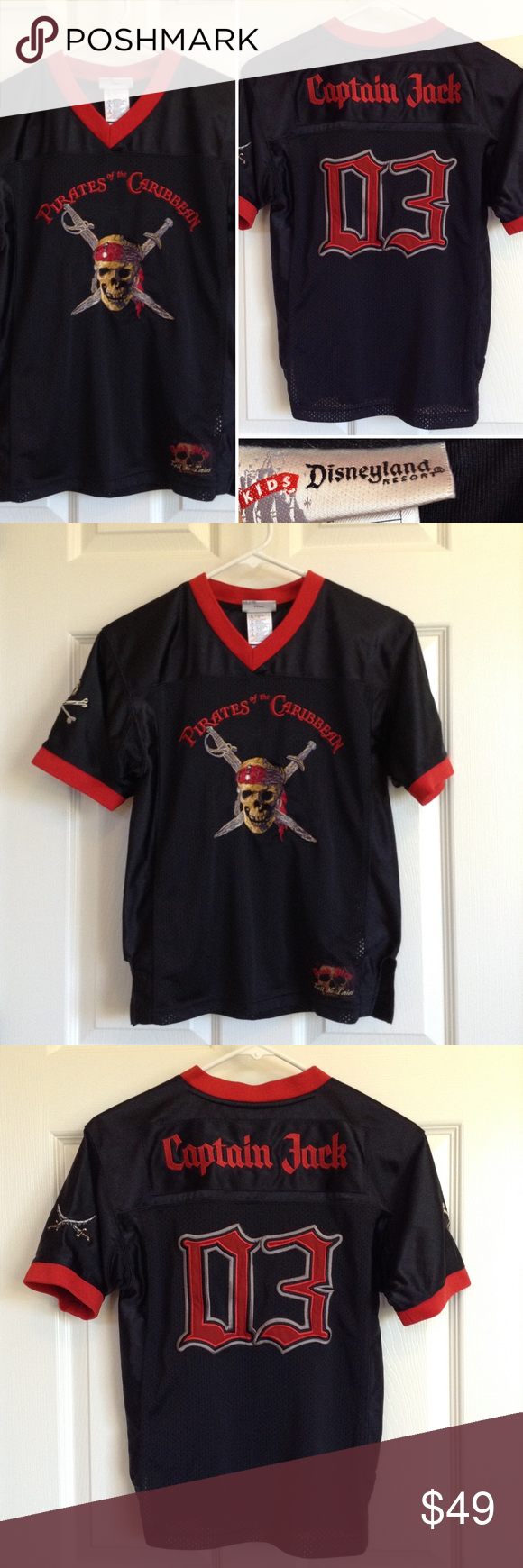 Captain Jack Sparrow Jersey From Disneyland Pirates Of The Caribbean