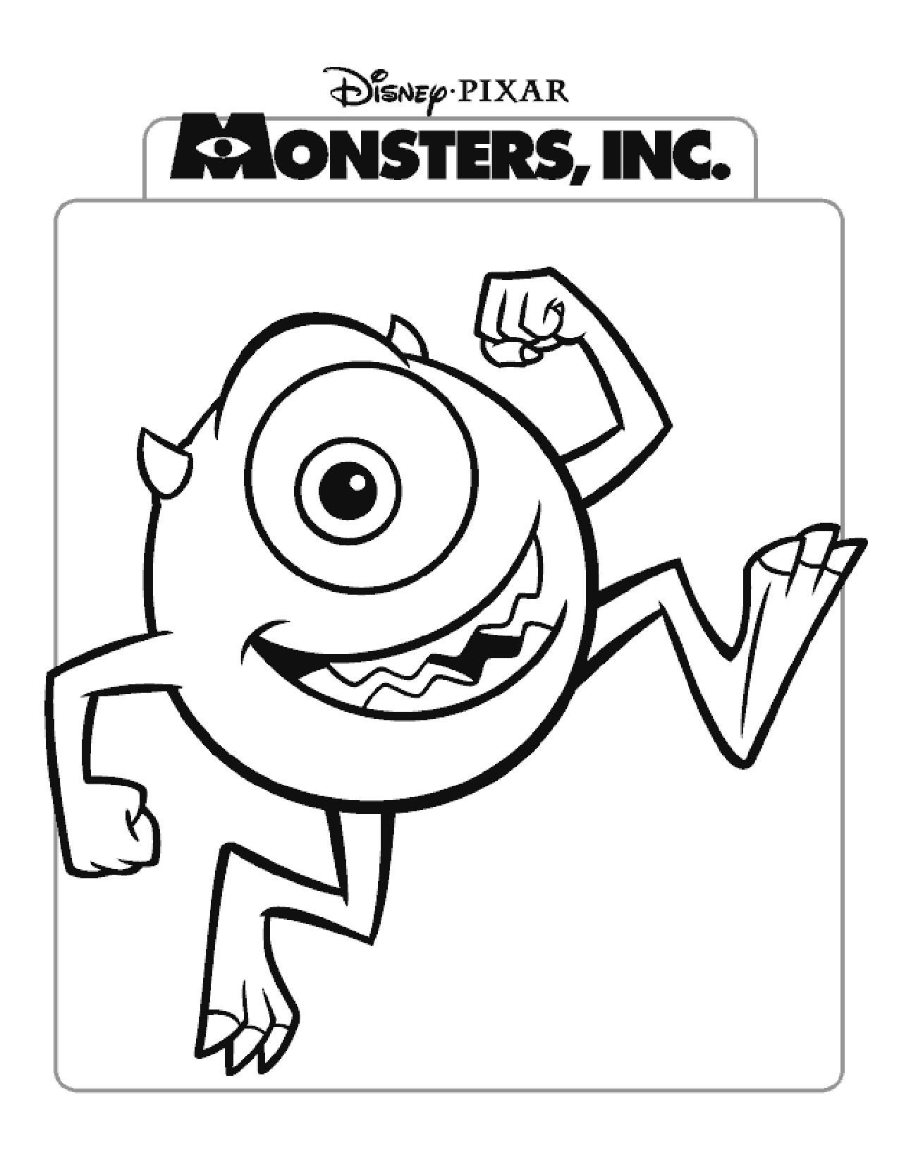 Monsters, Inc. | Disney Coloring Pages: Movie Covers | Pinterest