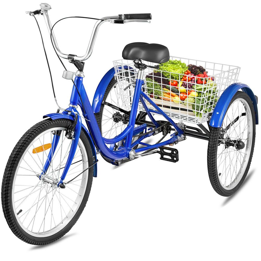 Sponsored Ebay 24 Adult Tricycle 1 Speed 3 Wheel Blue Large