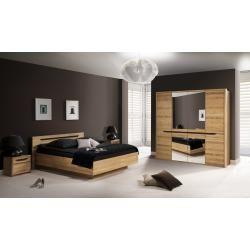 Schlafzimmer Komplett Set C Kyme, 4teilig, teilmassiv