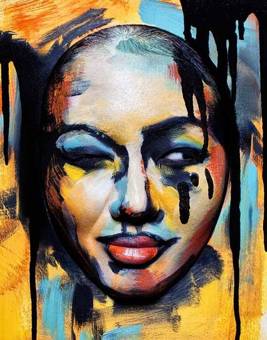 Painted Beauty by Anastasia Durasova, via Behance
