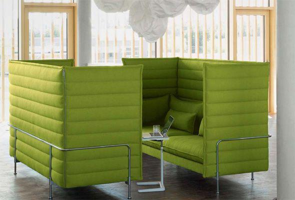 alkoven büro mieten alcove highback threeseater developed by vitra in switzerland design ronan erwan bouroullec sofa von vitra neuheiten 2018 flexmöbel pinterest
