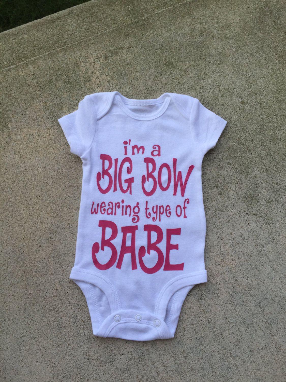 Baby Girl Big Bow Bodysuit Bad to the bow ONESIE\u00ae
