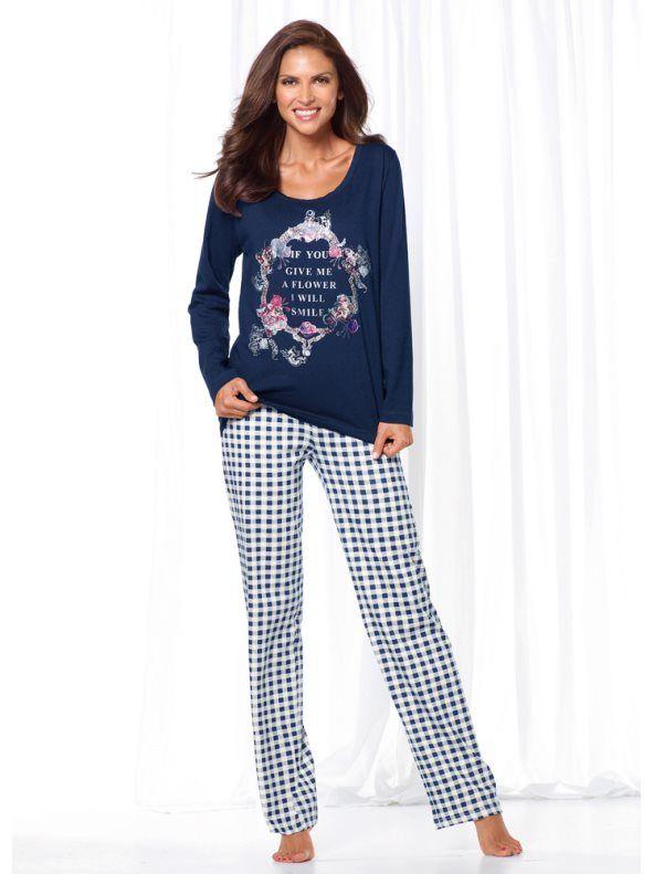 c3e73c62cb Pijama largo 2 piezas mujer estampado