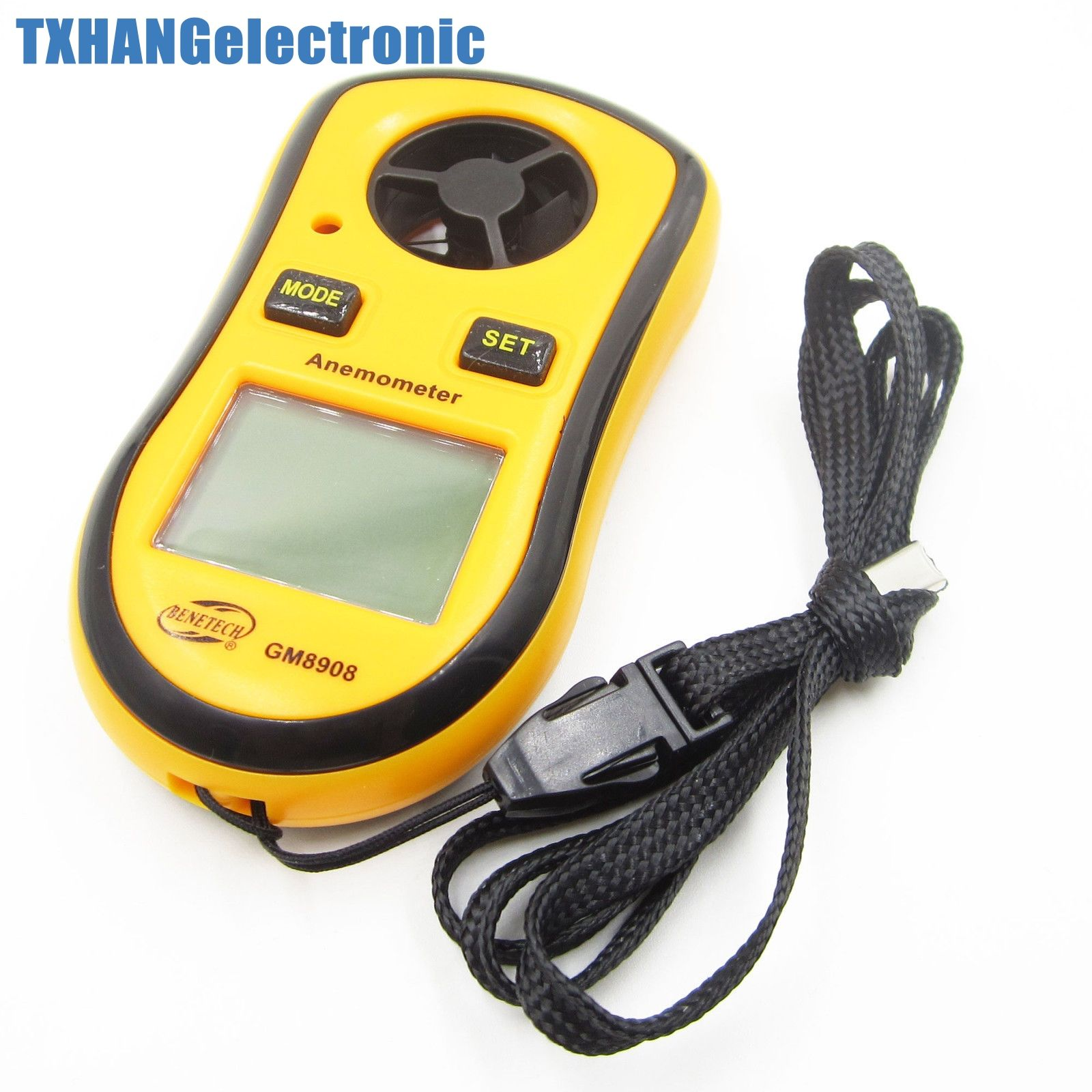 LCD Wind Speed Gauge Meter Anemometer NTC Thermometer B