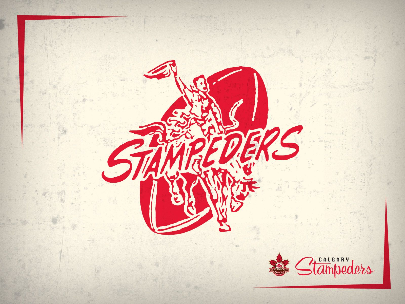 Calgary Stampeders Retro Logo Cfl Canadian Football