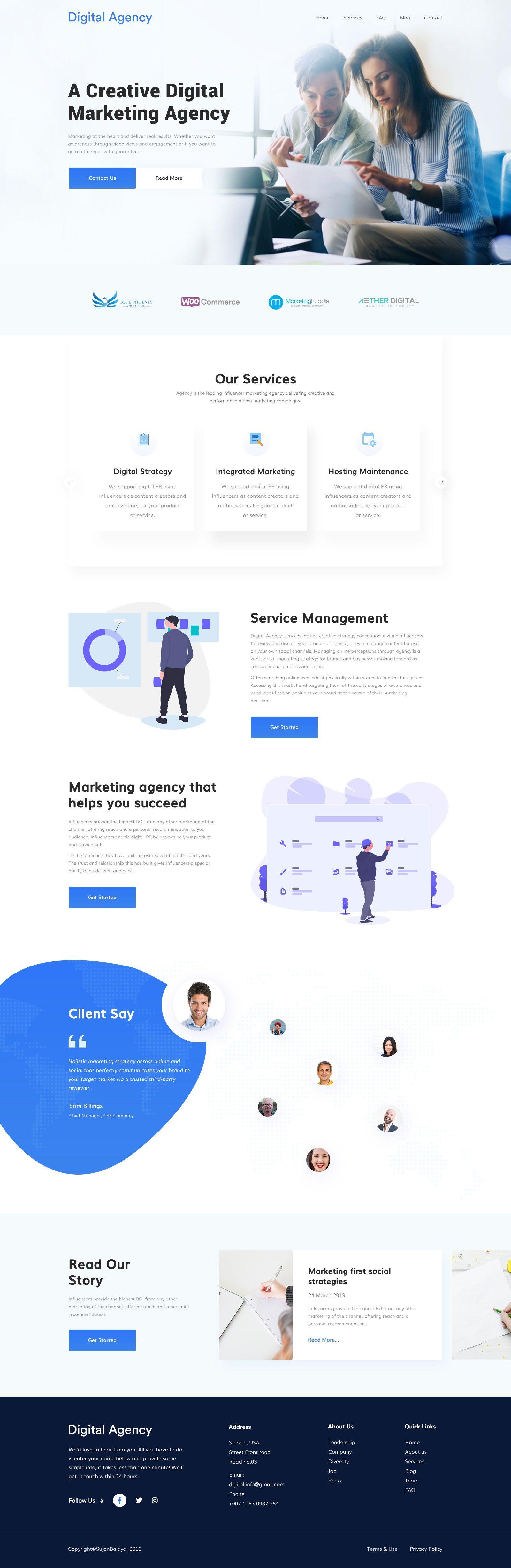 Digital Marketing Agency Corporate Website Design Modern Website Design Digital Marketing Agency