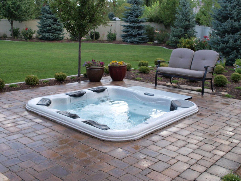 comfortable-garden-seat-furniture-design-with-brick-patio-floor-plus ...