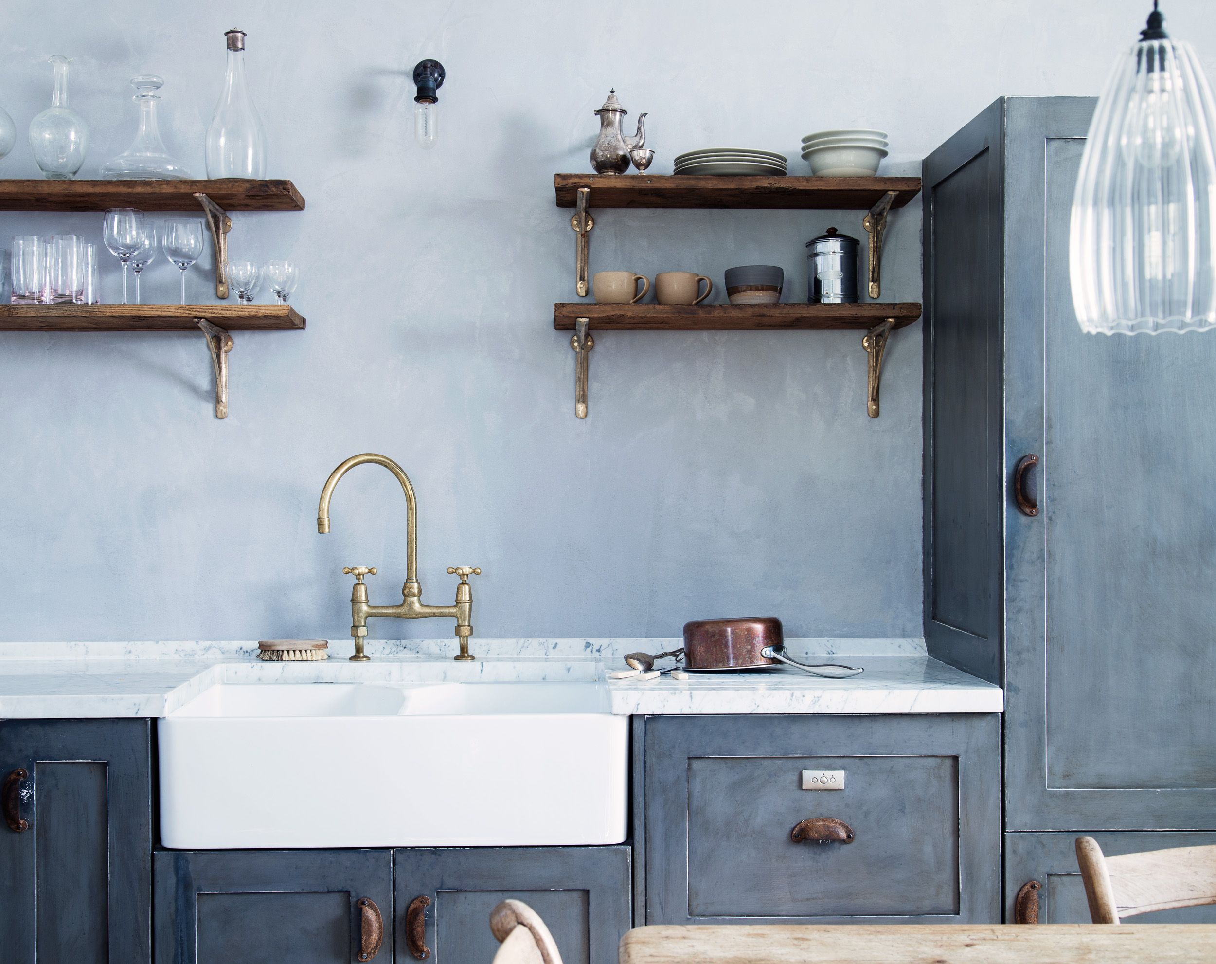 Blue Period: An English Manor House Channels Picasso | farmhouse ...
