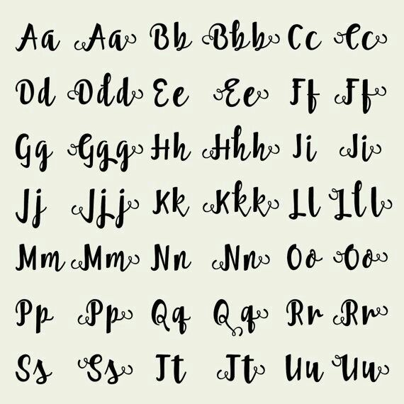 Discover Ideas About Handwriting Alphabet Font