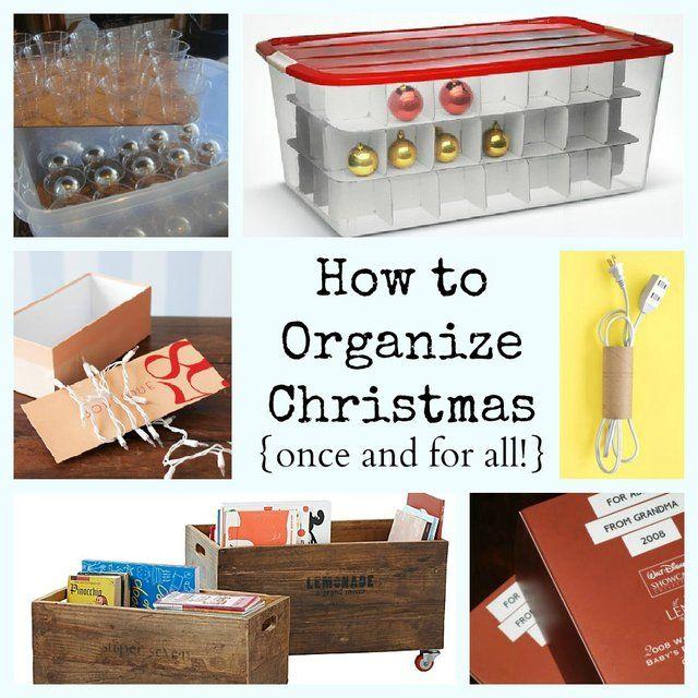 Christmas Storage  Organization Ideas organizatiom Pinterest