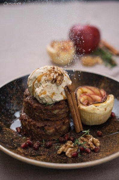 Apfel Zimt Brownies #blätterteigrosenmitapfel