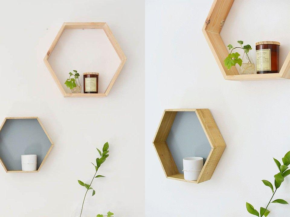 Une étagère géométrique DIY | Idées | Pinterest