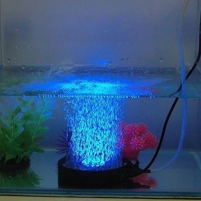 Amzdeal 12 Led Blue Color Round Shape Waterproof Aquarium Lights Aquarium Fish Tank Lighting Waterproof Up Lig Fish Tank Lights Aquarium Lighting Bubble Fish