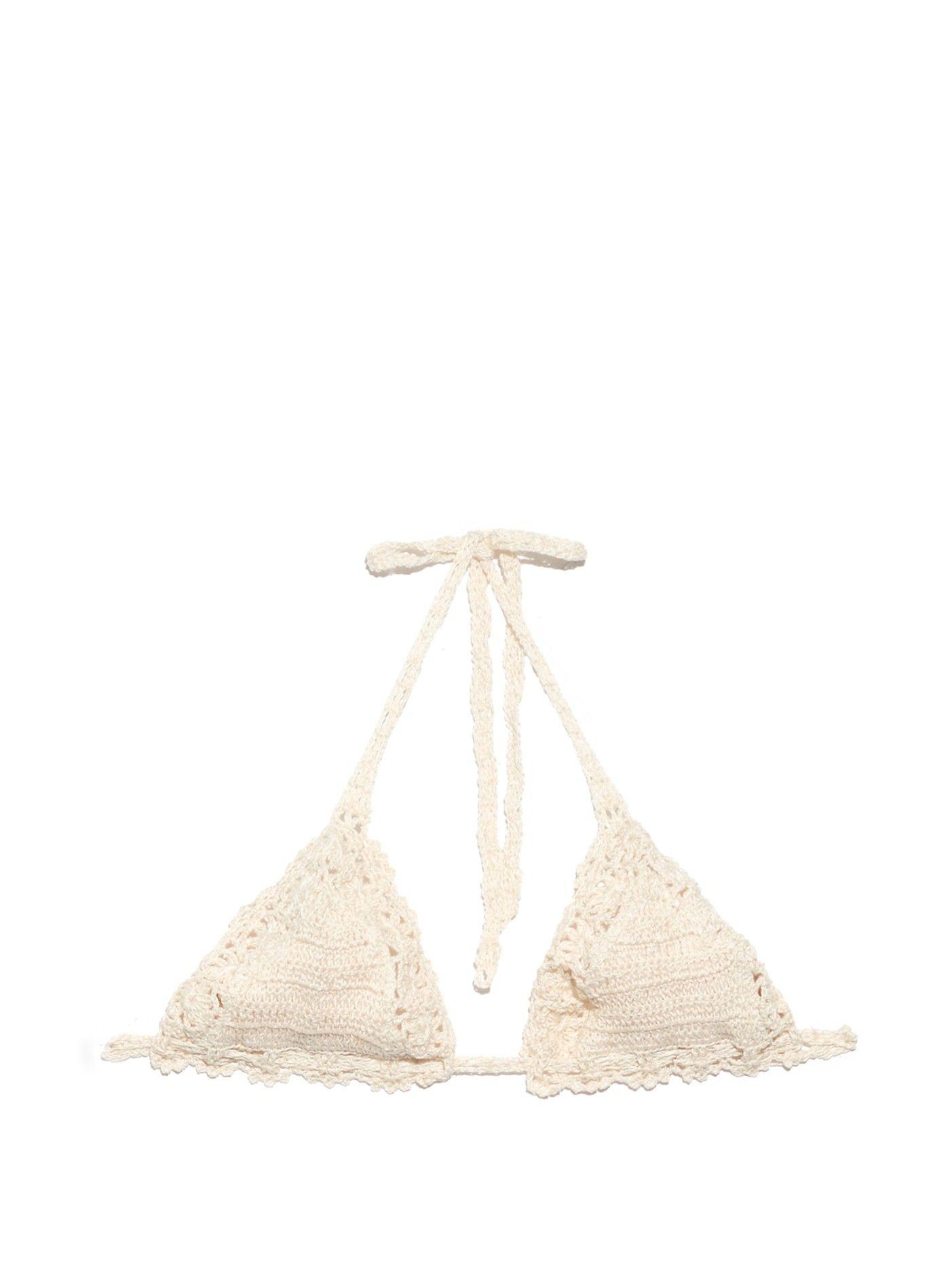 Bella crochet bikini top    Anna Kosturova   MATCHESFASHION.COM US
