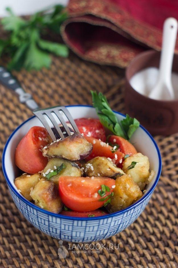 Хрустящие баклажаны с томатами — рецепт с фото | Рецепт ...