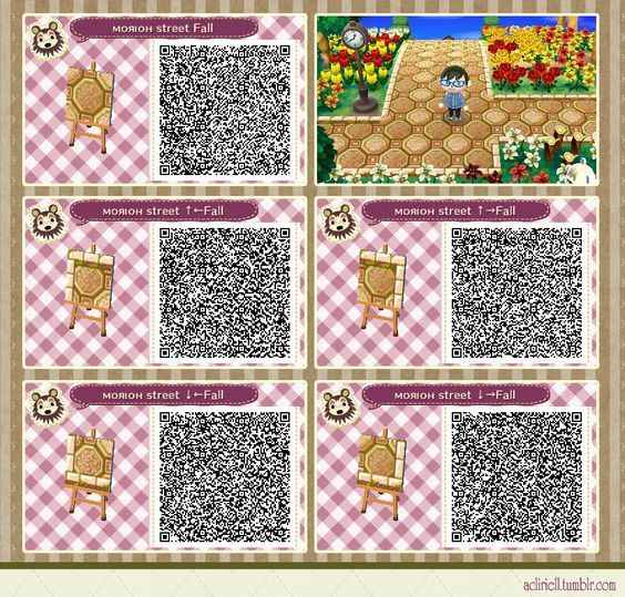 New Leaf Qr Paths Only Acliriell Morioh Street Fall And Winter Animal Crossing Animal Crossing Qr Animal Crossing Game
