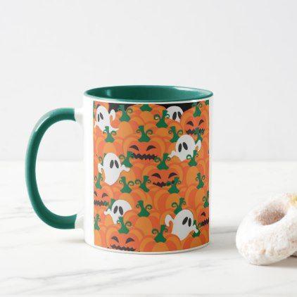 Halloween Ghosts Haunted Pumpkin Patch Mug - #halloween #party - halloween party decorations for adults