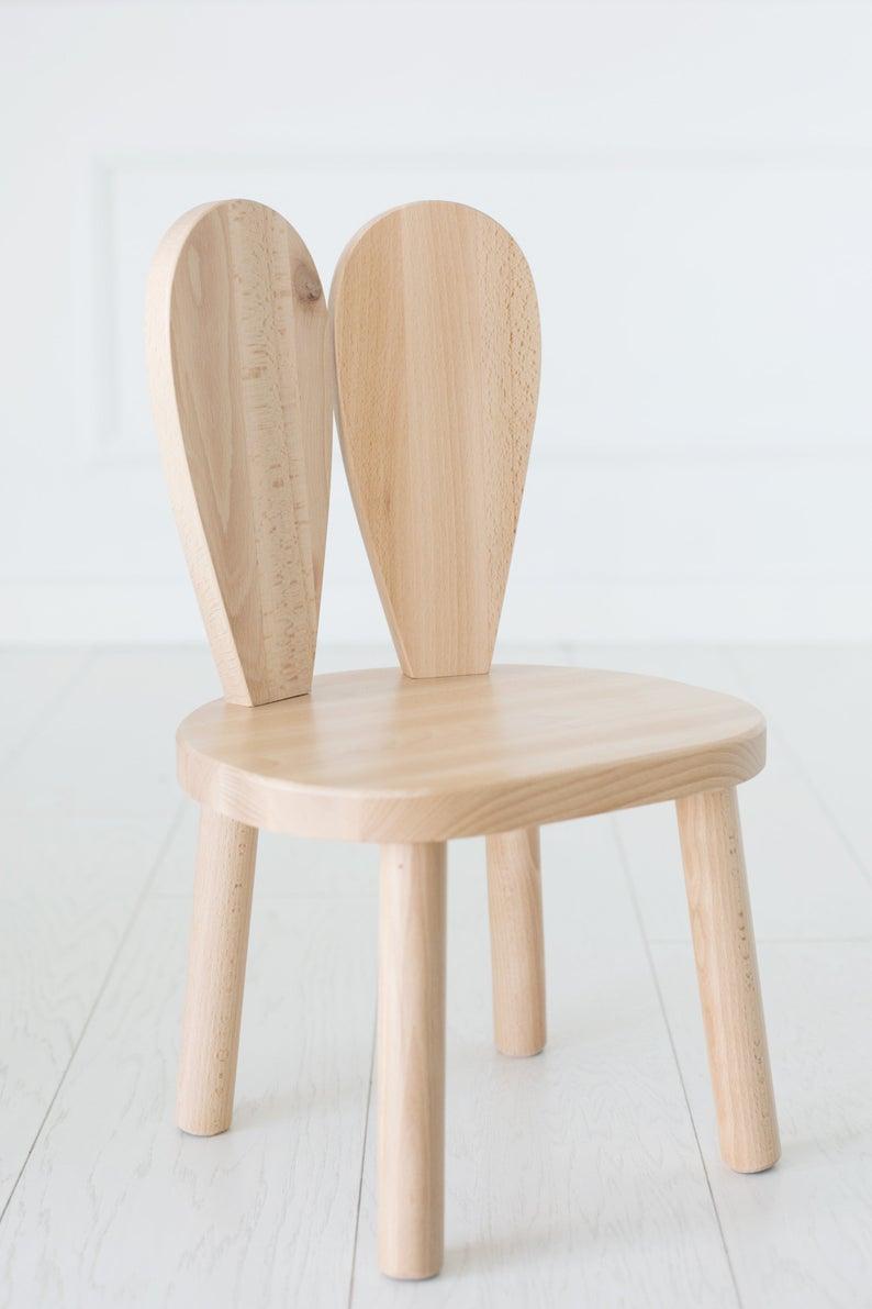Wooden Kids chair Bebek Odası