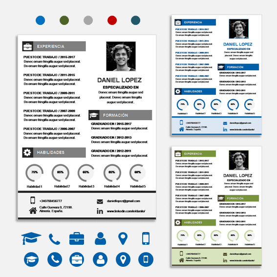 Plantilla de Curriculum Vitae Word y Power Point #curriculum #cv ...