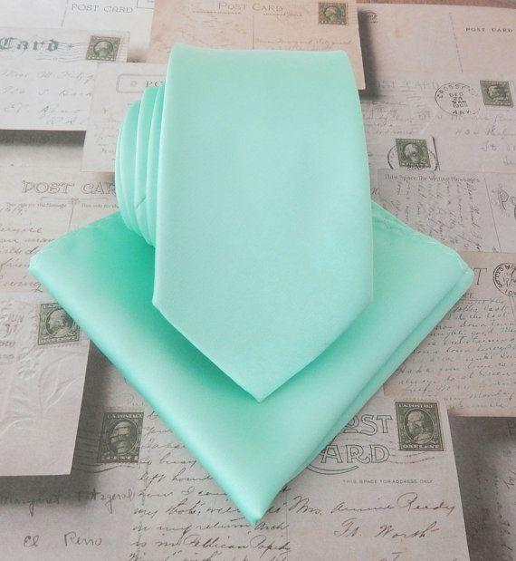 Mint Mens Tie. Pastel Mint Green Narrow Tie and *FREE ...