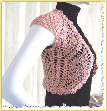 Free Vintage Crochet Bolero Patterns : Free Crochet Shrug Patterns for Women Custom - Pearl Pal ...