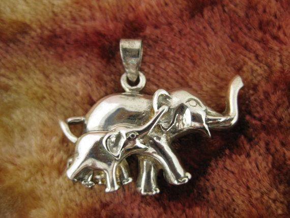 Vintage Sterling Silver Elephant Pendant by worldwideoddities, $12.00