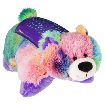 Pillow Pets Dream Lites Tie Dye Bear Animal Pillows Plush