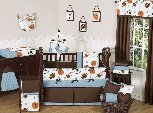 sports room collection baby bedding 9pc crib set for newborn boy by