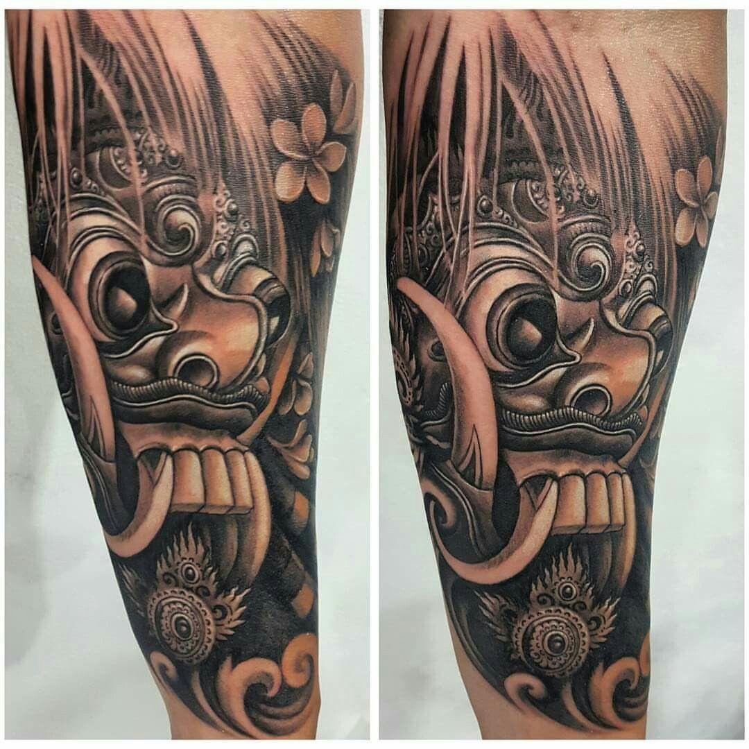Rangda Mask Tattoo Desain Tato Tato Punggung Tato