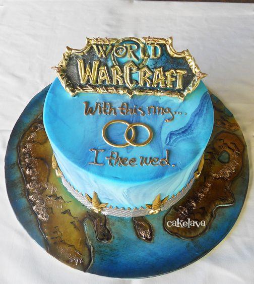 Excellent World Of Warcraft Cake By Rick Reichart Cakelava Geek Wedding Birthday Cards Printable Opercafe Filternl
