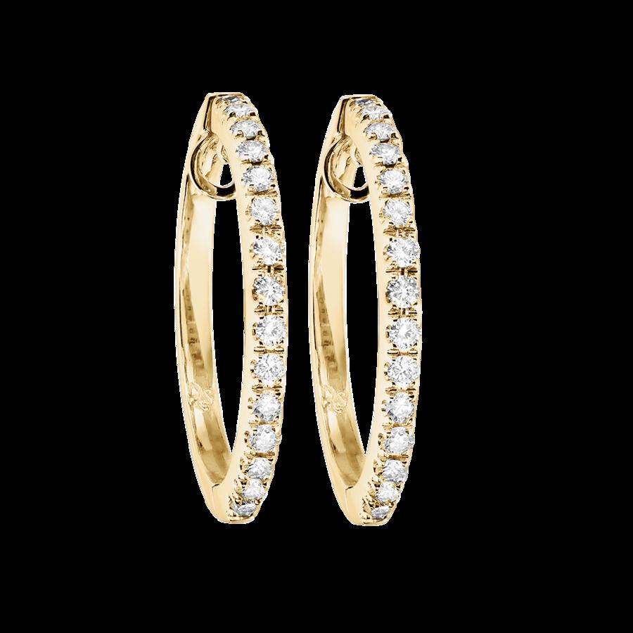 Sonderangebot achten Sie auf echt kaufen Diamant Creolen in Gelbgold | RENÉSIM | Jewellery for ...