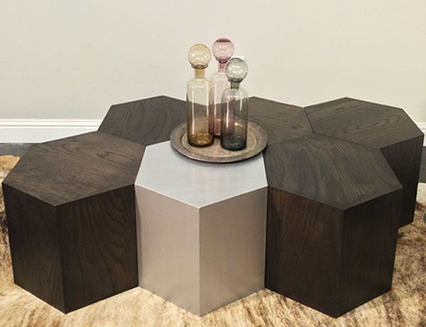 Hexagon Modular Honeycomb Shaped Furniture System Modular Coffee
