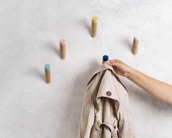Delightful Wall Hooks Entryway Coat Hooks Scandinavian By Loopdesignstudio