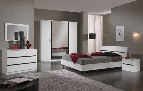 Awesome Chambre Mur Rouge Et Gris Contemporary - Yourmentor.info ...