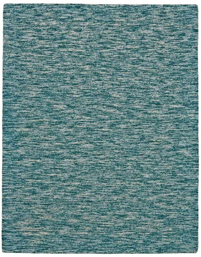 Teal Textured Wool Rug Throw Lush Decor Fashion Style Classy