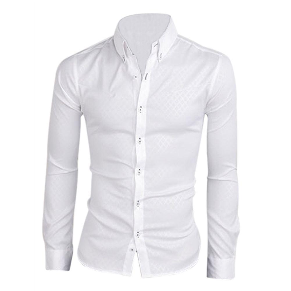 d00a066fa1c 2017 NEW New men shirt casual slim fit mens dress shirts white ...