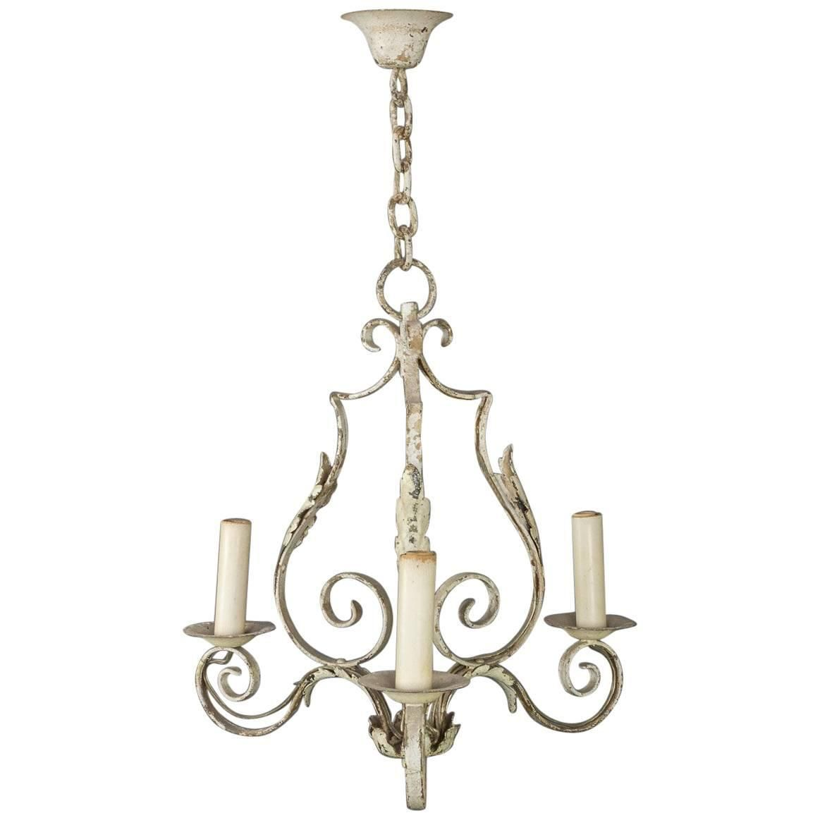 Small French Wrought Iron Chandelier Iron Chandeliers Wrought