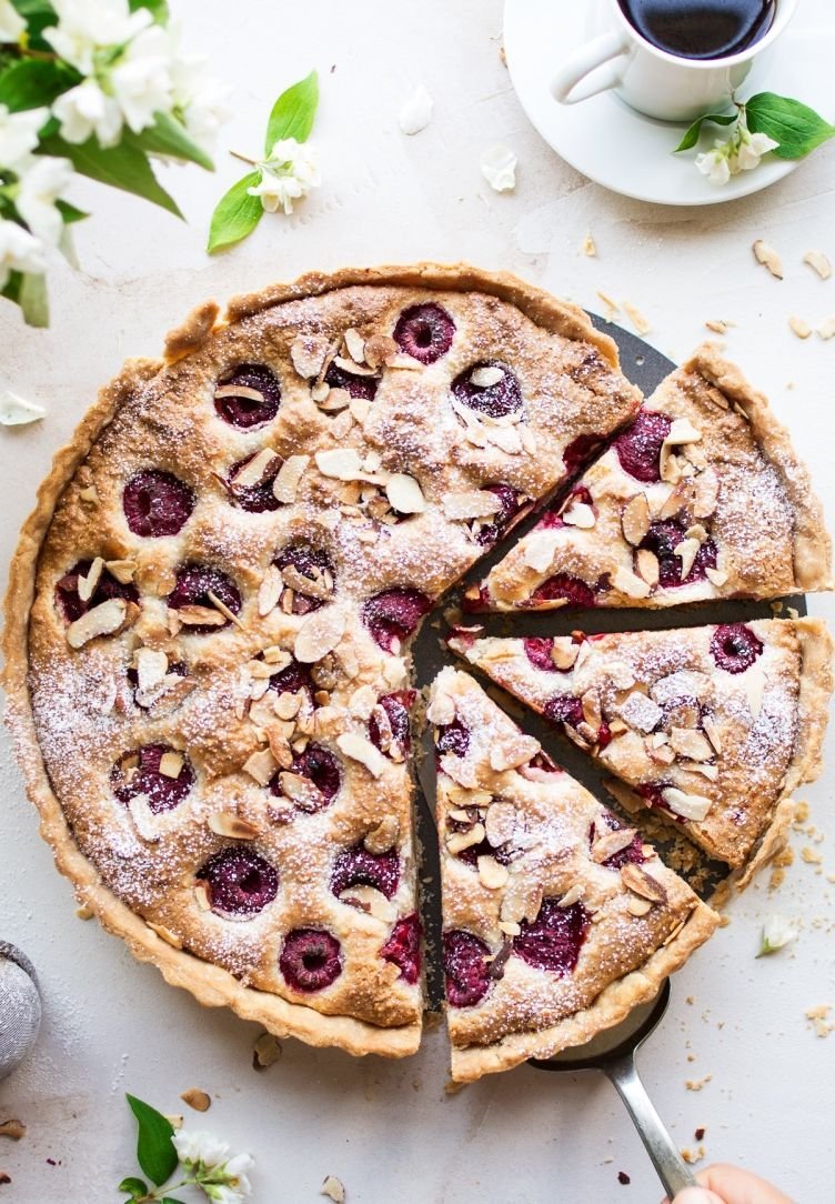 Raspberry Almond Frangipane Tart by lazycatkitchen