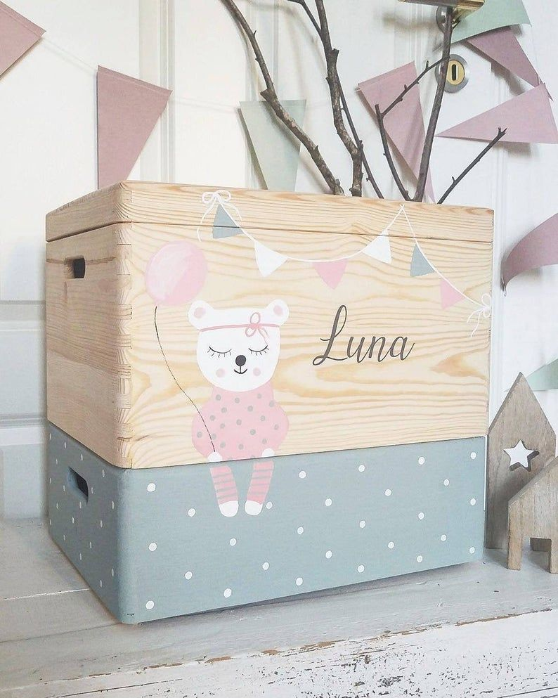 Wooden Box Toy Box Legobox Toy Box On Wheels G E O M E R I C Pink In 2020 Toy Boxes Wooden Toy Boxes Wooden Boxes