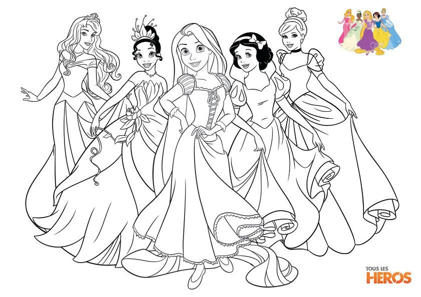 Coloriez les princesses de disney coloriage sur www - Disney princesse coloriage ...