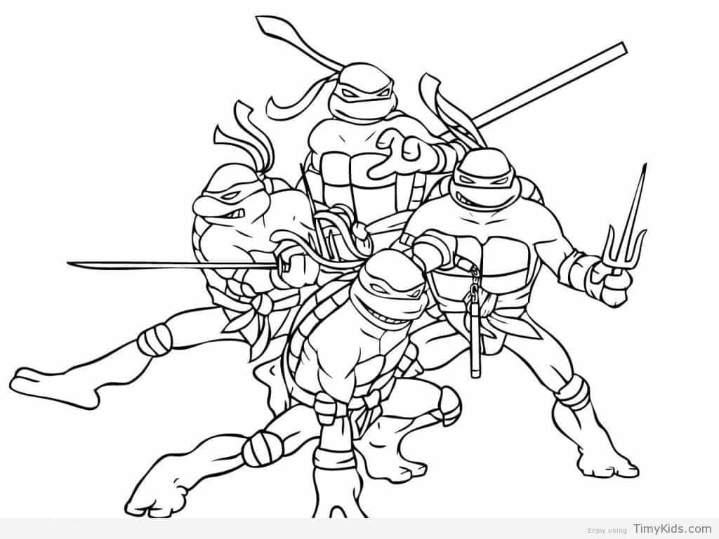 Ninja Turtles Pictures To Color Ninja Turtle Coloring Pages