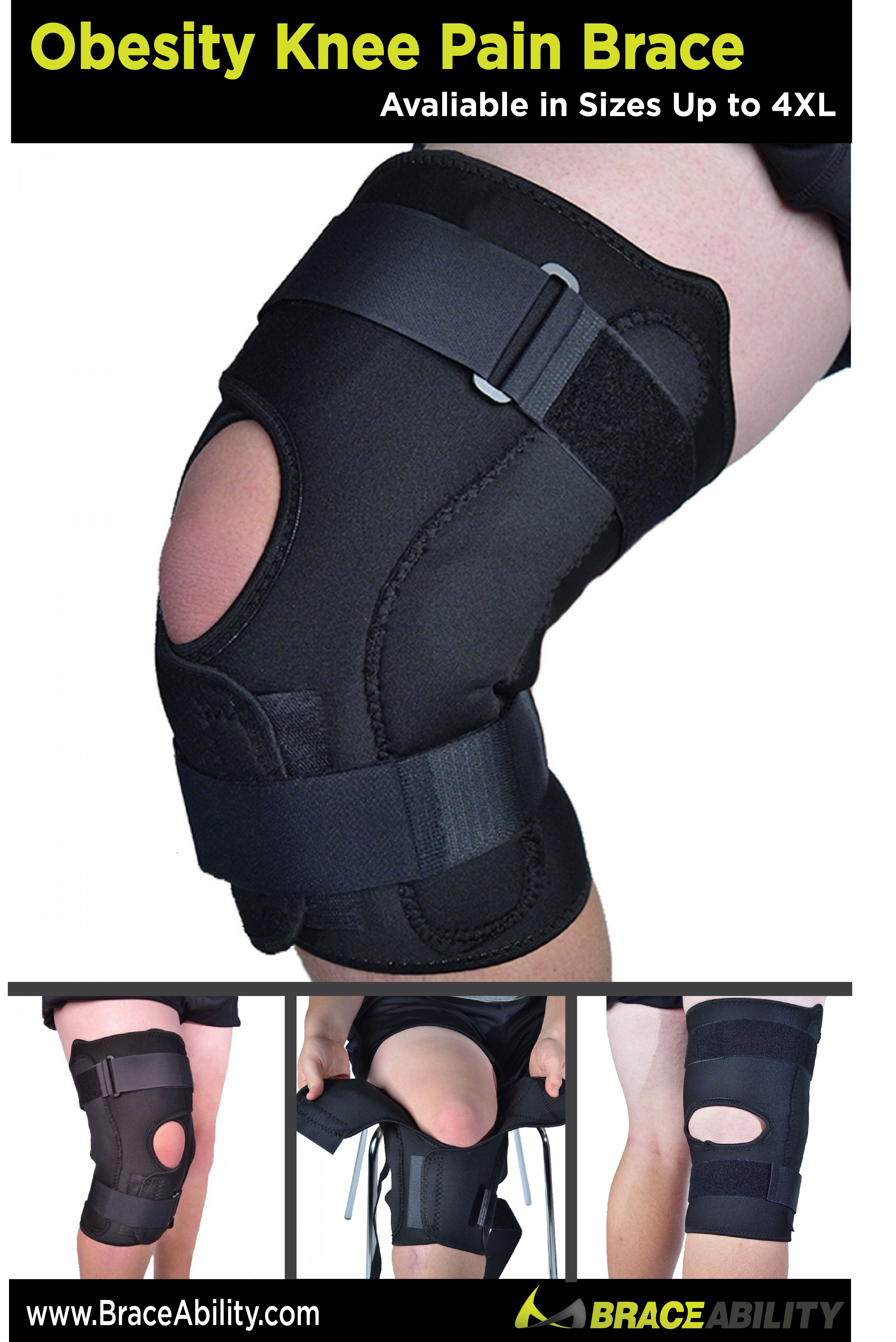 17548f97d0 Obesity Knee Pain Brace-- This big knee brace has all the features of a