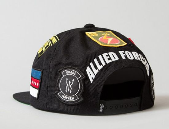 498be588ed7 U.S.A.F. Patches Snapback Cap by UNION x STUSSY 5 Panel Hat