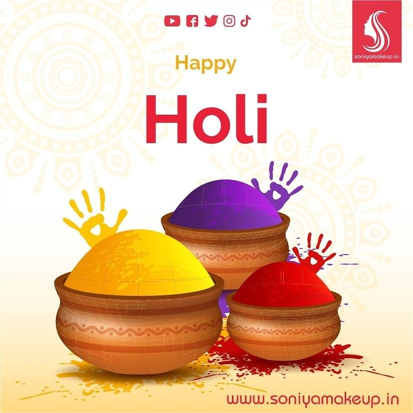 Holi is the day to express love with colors. It is a time to show affection. All the colors that are on you are of love.  Happy Holi #holi #happyholi #india #festival #holifestival #colors  #holipowder #festivalofcolors #holifestivalofcolours #holihai #festivalofcolours #holifest #indianfestival #holiparty . . #cosmetics #beauty #makeup #skincare #mua #Facial #makeupartist #lipstick #fashion #cosmetic #instamakeup #eyeshadow #makeupaddict #makeuplover #makeuptutorial #soniyamakeup