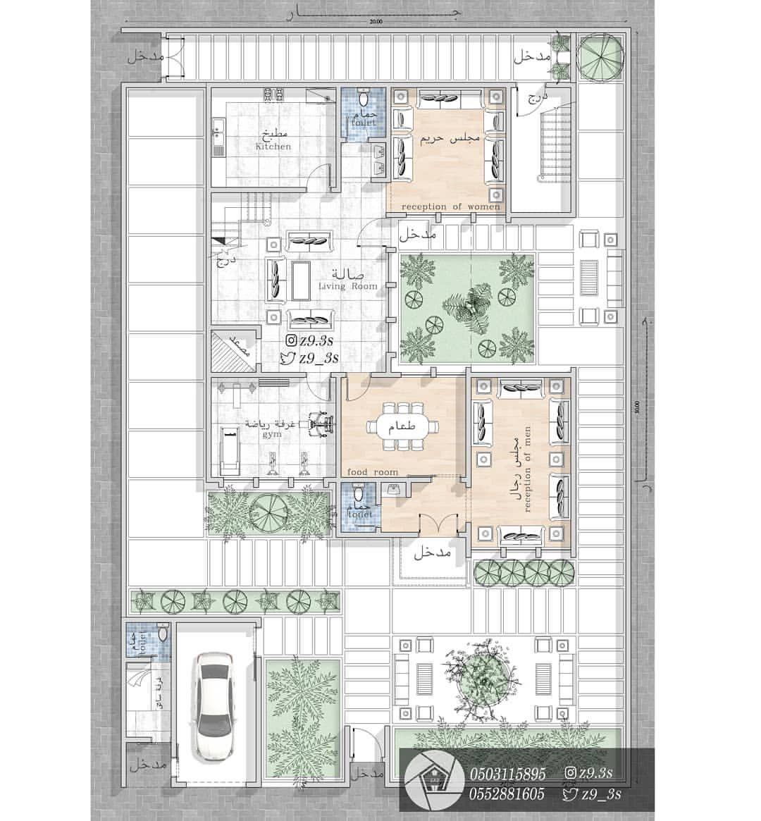 تصميم لفيلا مودرن مساحة الدور الارضي ٢٣٨م٢ فكرة التصميم إدخال أكبر كمية إضاءة طبيعية والا My House Plans Small House Design Philippines Indian House Plans