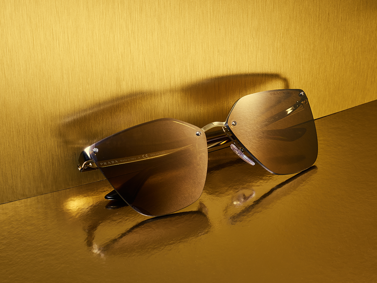 c7a3c0542da4d Proof there s no gift like gold with these stunning Prada shades ...